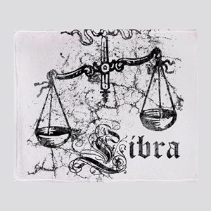 Worn Zodiac Libra Throw Blanket