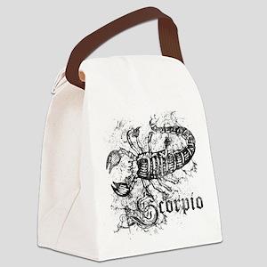 Worn Zodiac Scorpio Canvas Lunch Bag