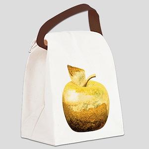 Golden Apple Canvas Lunch Bag