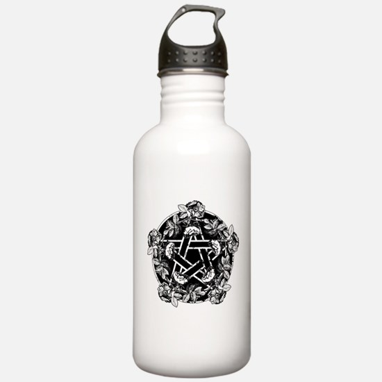 Pentacle With Roses Water Bottle