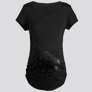 Pentacle With Roses Maternity Dark T-Shirt