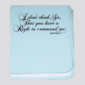Jane Eyre No Right To Command Me baby blanket
