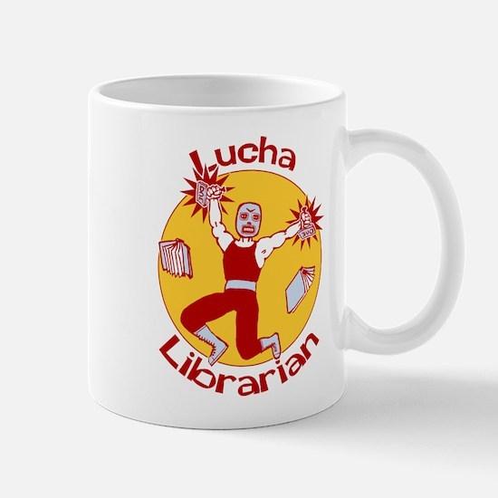 Lucha Librarian Mug