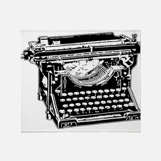 Old Fashioned Typewriter Throw Blanket