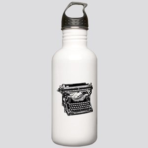 Old Fashioned Typewriter Stainless Water Bottle 1.