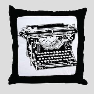 Old Fashioned Typewriter Throw Pillow