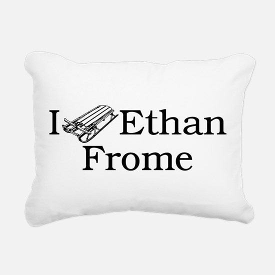 I (Sled) Ethan Frome Rectangular Canvas Pillow