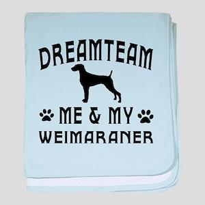 Weimaraner Dog Designs baby blanket