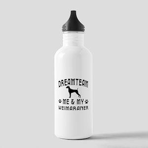 Weimaraner Dog Designs Stainless Water Bottle 1.0L