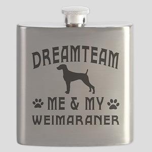 Weimaraner Dog Designs Flask
