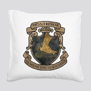Montresor Coat Of Arms Square Canvas Pillow