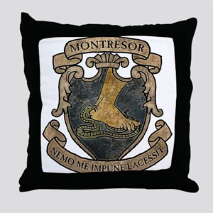 Montresor Coat Of Arms Throw Pillow