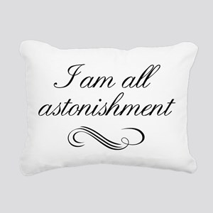 I Am All Astonishment Rectangular Canvas Pillow