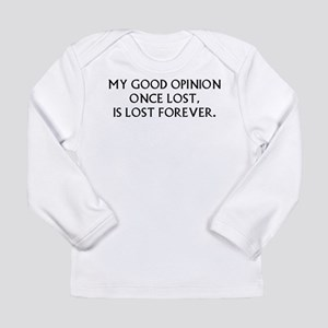 Darcy My Good Opinion Long Sleeve Infant T-Shirt