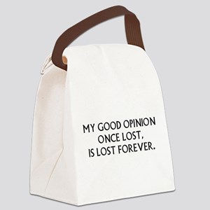Darcy My Good Opinion Canvas Lunch Bag
