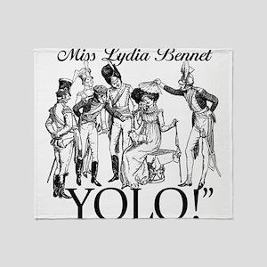 Lydia Bennet YOLO Throw Blanket