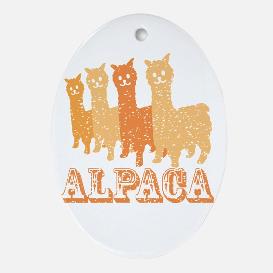 Cute Alpaca Oval Ornament
