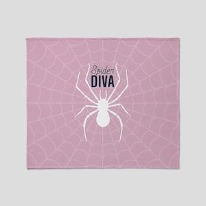 Spider Diva Throw Blanket