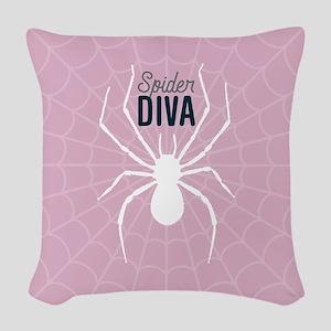 Spider Diva Woven Throw Pillow