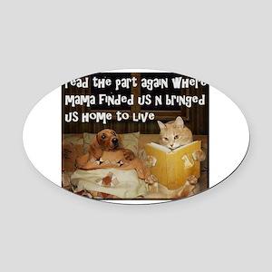 Adopt A Pet Oval Car Magnet