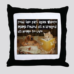 Adopt A Pet Throw Pillow