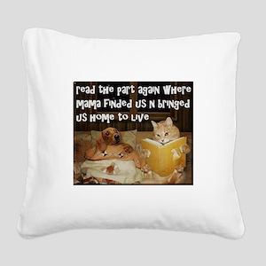 Adopt A Pet Square Canvas Pillow