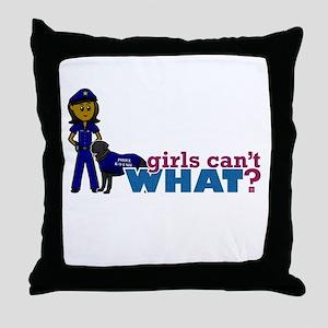 K-9 Police Officer Throw Pillow