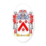 Bever Oval Car Magnet