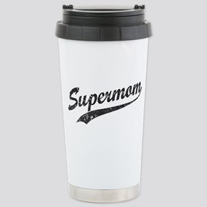 Vintage Super Mom Stainless Steel Travel Mug
