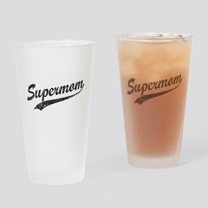 Vintage Super Mom Drinking Glass
