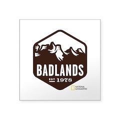Badlands Square Sticker 3