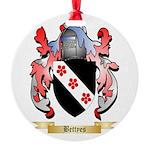 Bettyes Round Ornament