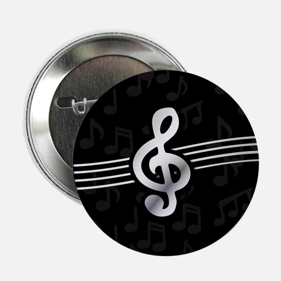 "Stylish clef on musical not 2.25"" Button (10 pack)"