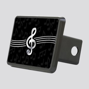 Stylish clef on musical no Rectangular Hitch Cover