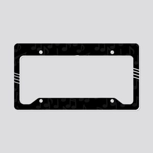 Stylish clef on musical note License Plate Holder