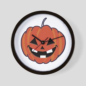 Smiley Halloween Wall Clock