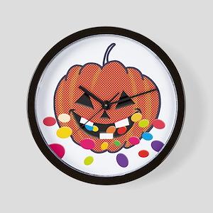 Eating Halloween Rainbow Wall Clock