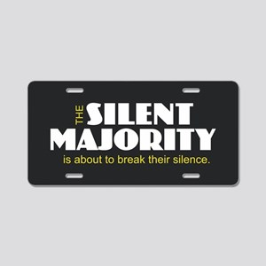 Silent Majority Aluminum License Plate