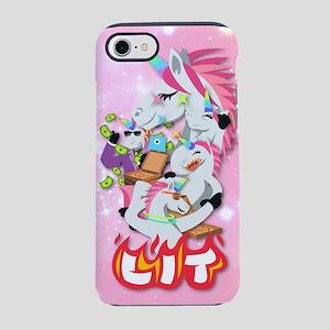 Emoji Unicorn Lit iPhone 7 Tough Case