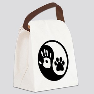 Yin Yang Hand and Paw Canvas Lunch Bag