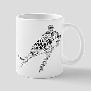 Hockey Languages Typography Mug