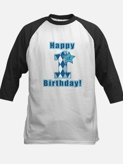 Happy 1st Birthday Baseball Jersey