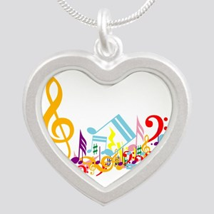 Colorful Musical Notes Necklaces