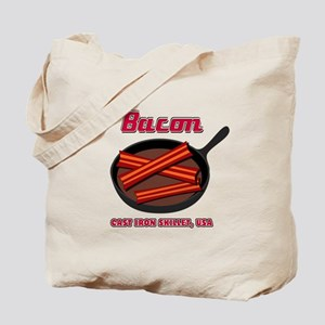 Bacon Cast Iron Skillet USA Tote Bag