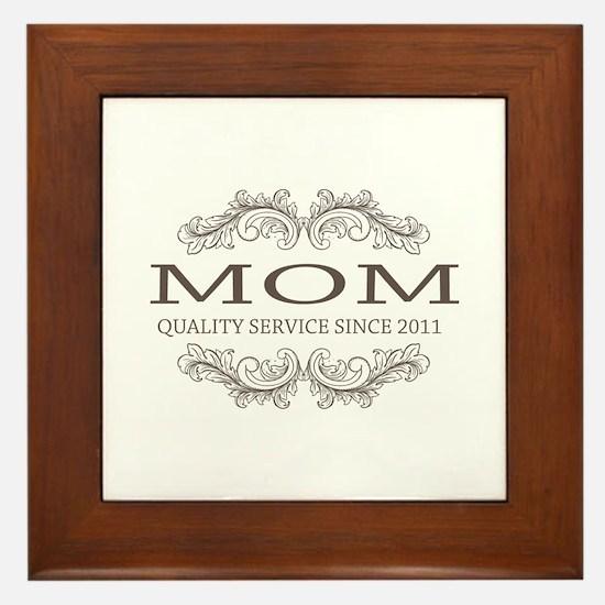 Mom 2011 - Vintage Quality Service Framed Tile