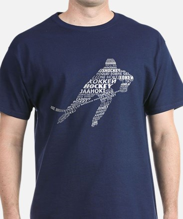 Hockey Languages Typography T-Shirt