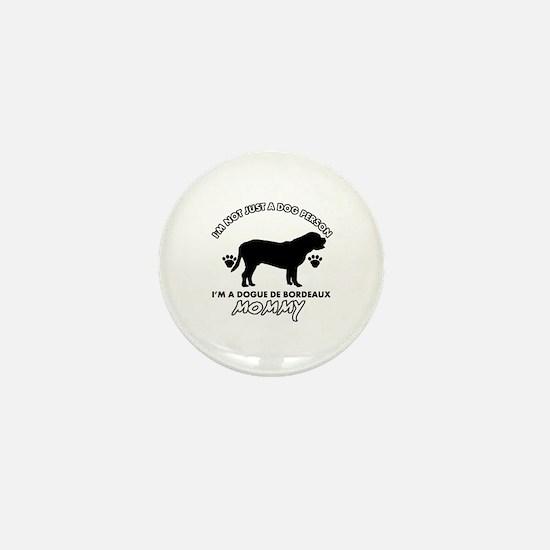 Dogue de Bordeaux dog breed designs Mini Button