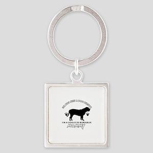 Dogue de Bordeaux dog breed designs Square Keychai