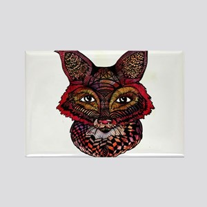 Fox Patterns Rectangle Magnet