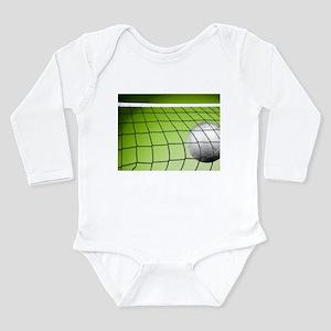 Green Volleyball Net Long Sleeve Infant Bodysuit